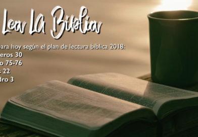 Lectura bíblica para el 21/5/2018