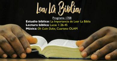 Lea La Biblia, Programa 1708