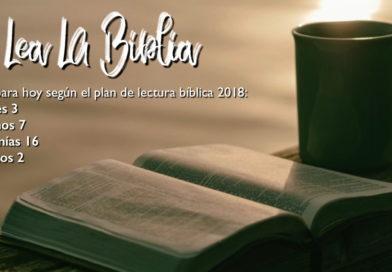 Lectura bíblica para el 20/7/2018