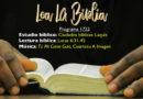Lea La Biblia, Programa 1722