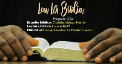 Lea La Biblia, Programa 1723