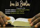 Lea La Biblia, Programa 1726