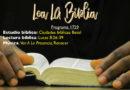 Lea La Biblia, Programa 1729