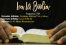 Lea La Biblia, Programa 1734
