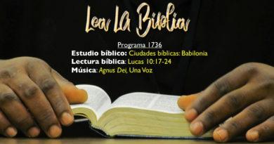 Lea La Biblia, Programa 1736