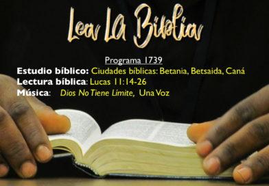 Lea La Biblia, Programa 1739